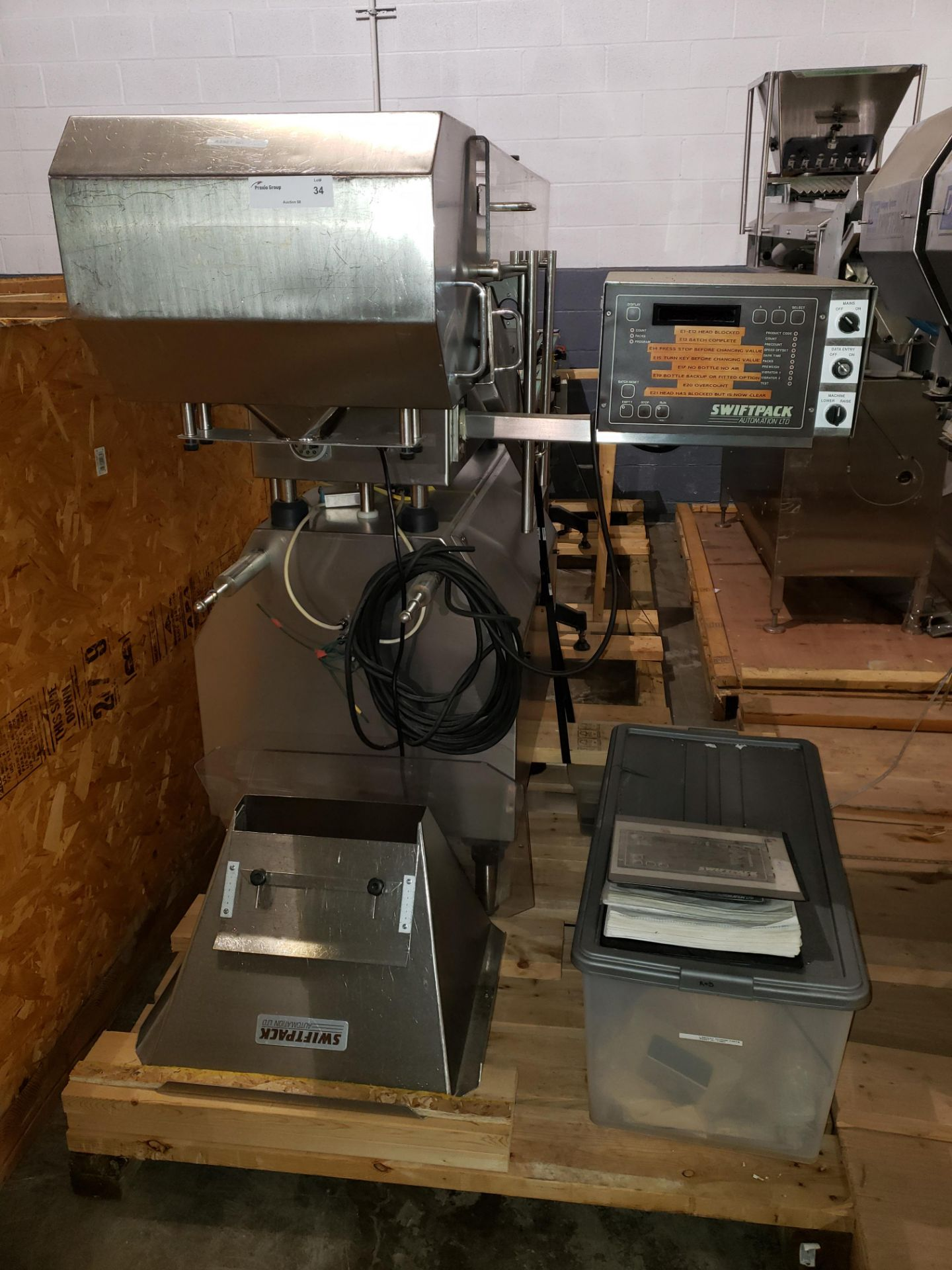 Lot 34 - Swiftpack lane counter, model SPC12P, stainless steel product contact surfaces, 12 lane, 2