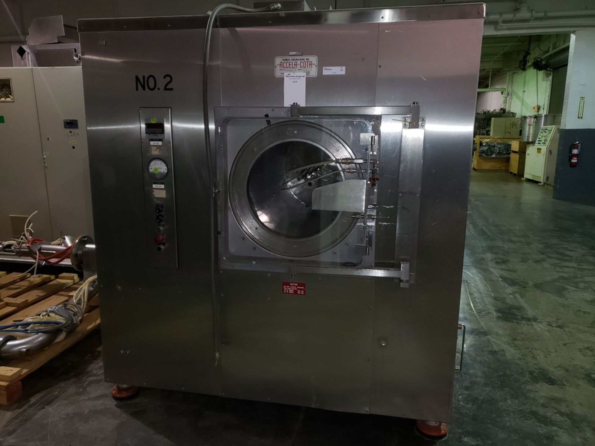 "Lot 98 - 60"" Thomas Eng. Accela-Cota Coating Pan Systems Model 60 III, all stainless steel construction,"