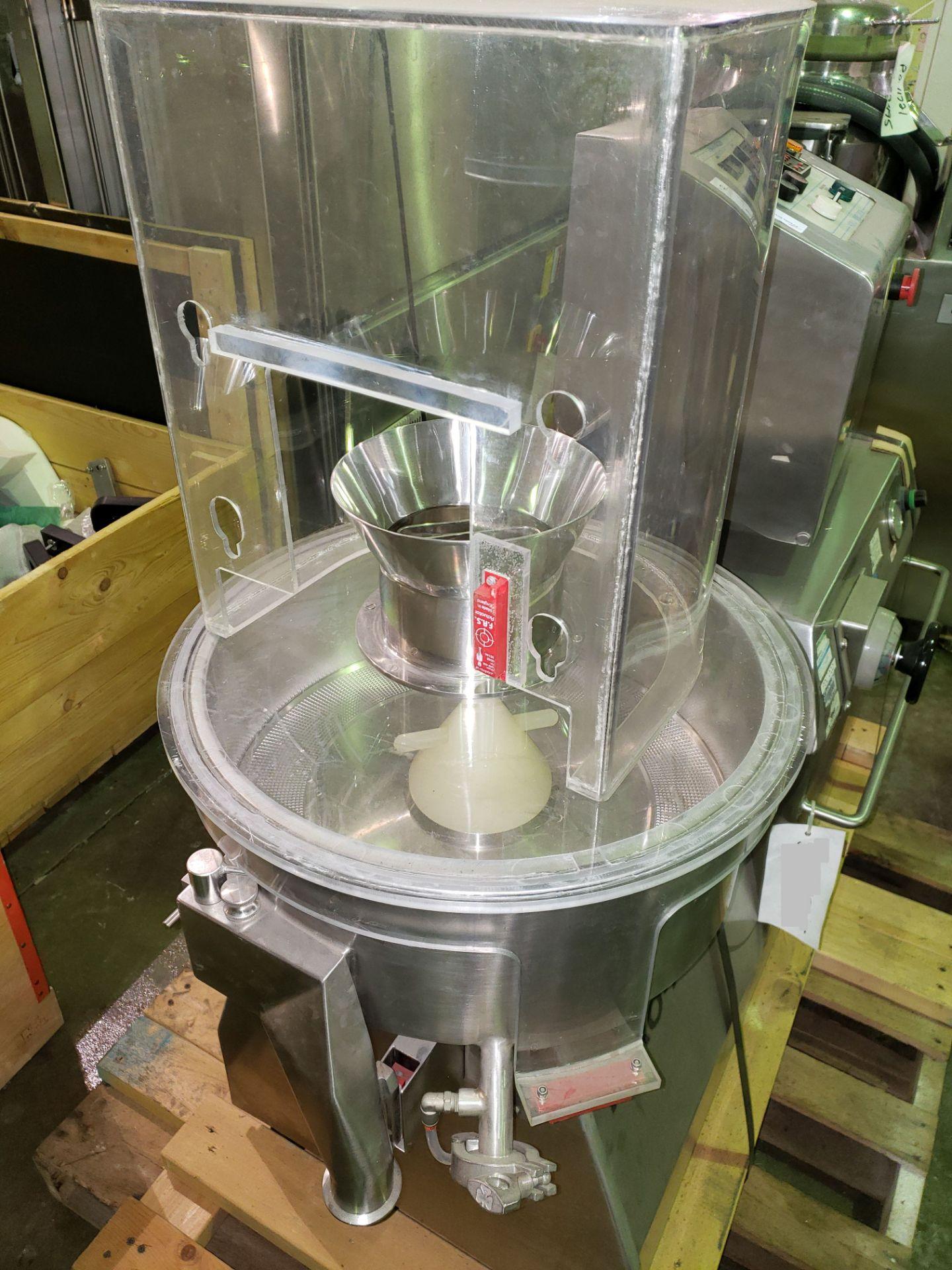 Lot 33 - Niro Fielder NICA spheronizer, model S-450, stainless steel construction, 450mm diameter