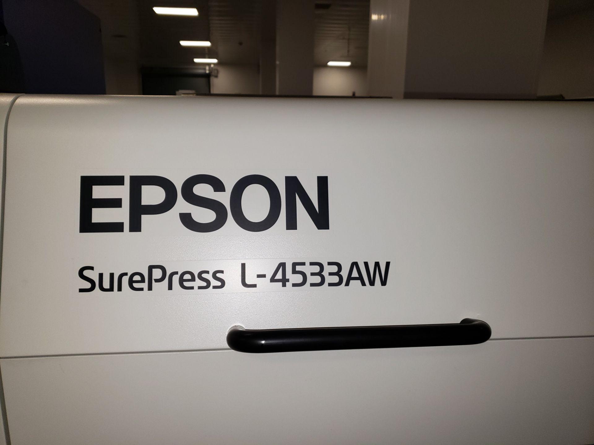 Lot 3 - EPSON SUREPRESS DIGITAL LABEL PRESS L-4533AW, MODEL N721A