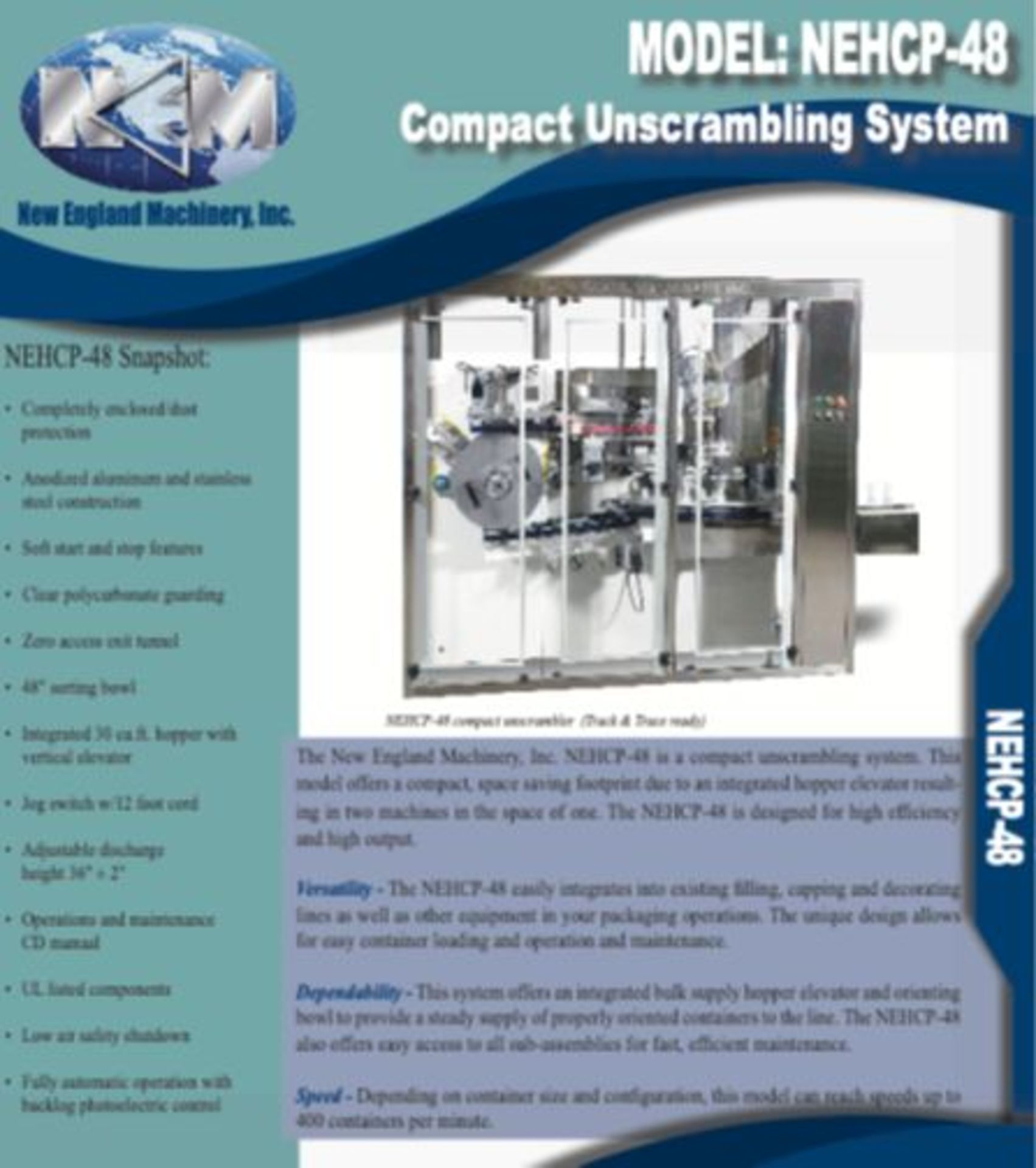 14 Head Dry Products Packaging Line - Ohlsen Weigher - New England Unscrambler - Conveyors - Enercon - Image 5 of 6