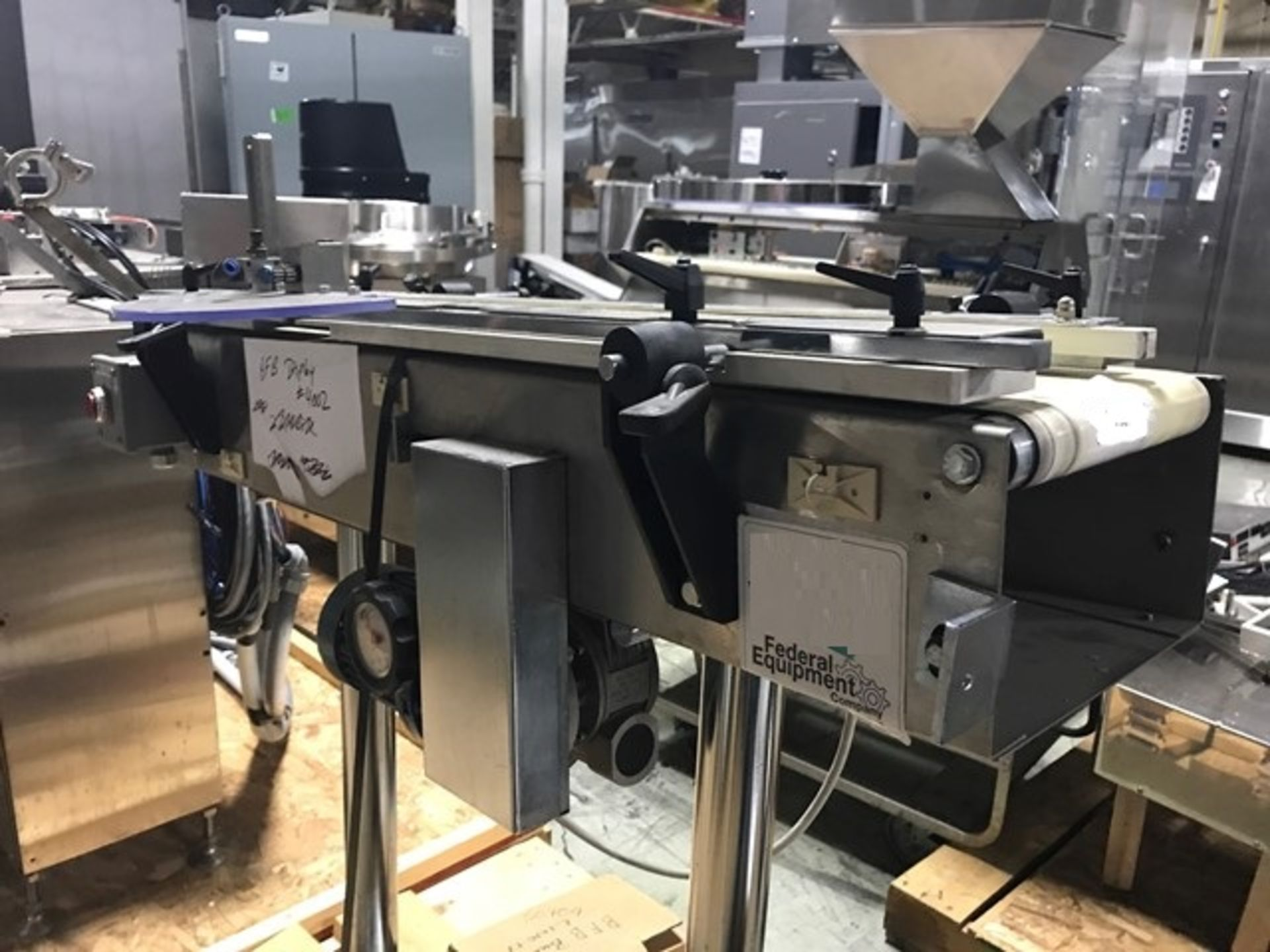 """Lot 4 - Belt Conveyor, approximately 36"""" long x 6"""" wide, with drive."""