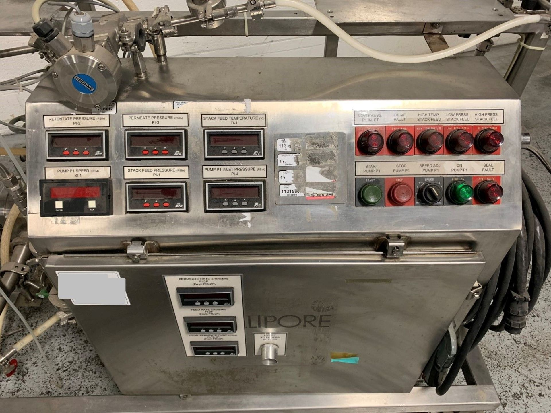 Lot 2 - Millipore chromatography pump skid with 5 HP Pump