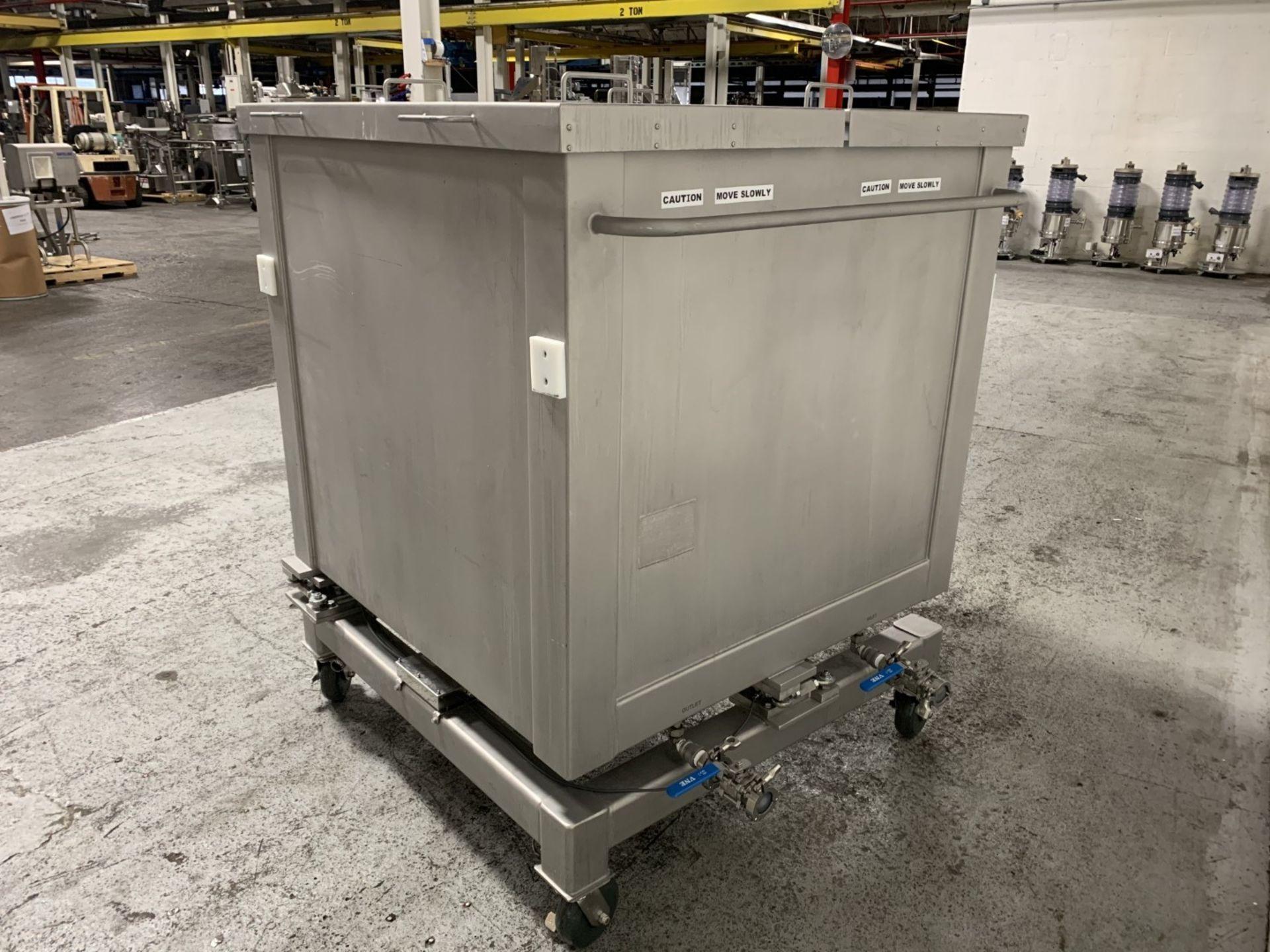 Lot 21 - 1000 Liter Sartorius ETO Palletank, Product code/model FXC214390, 304 stainless steel