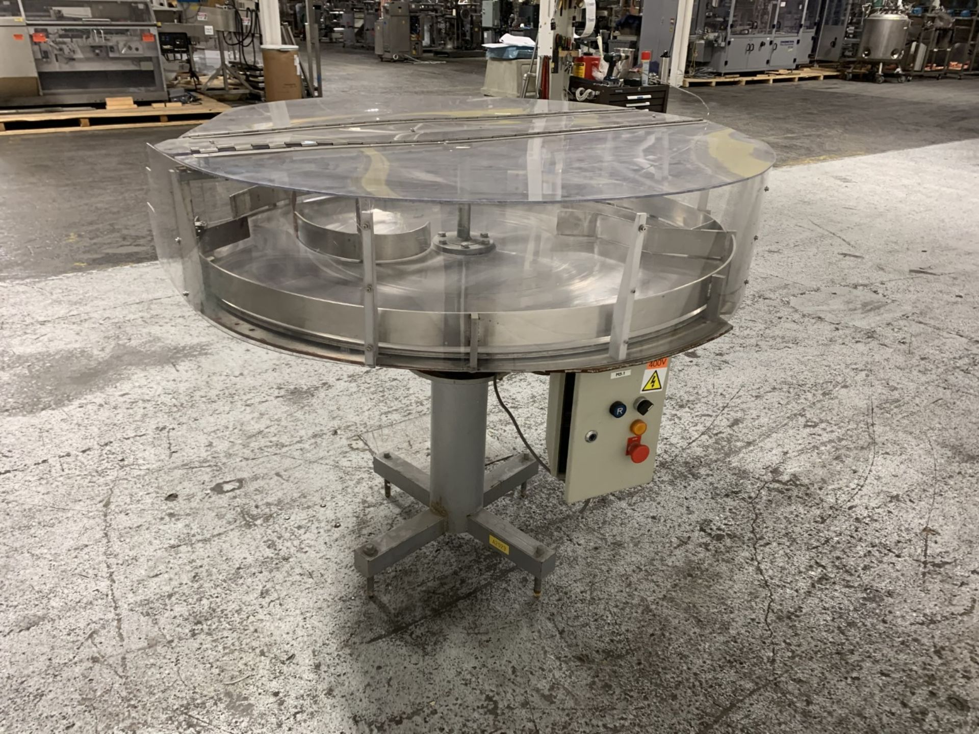 """Lot 16 - CarMatic 48"""" stainless steel accumulation table"""