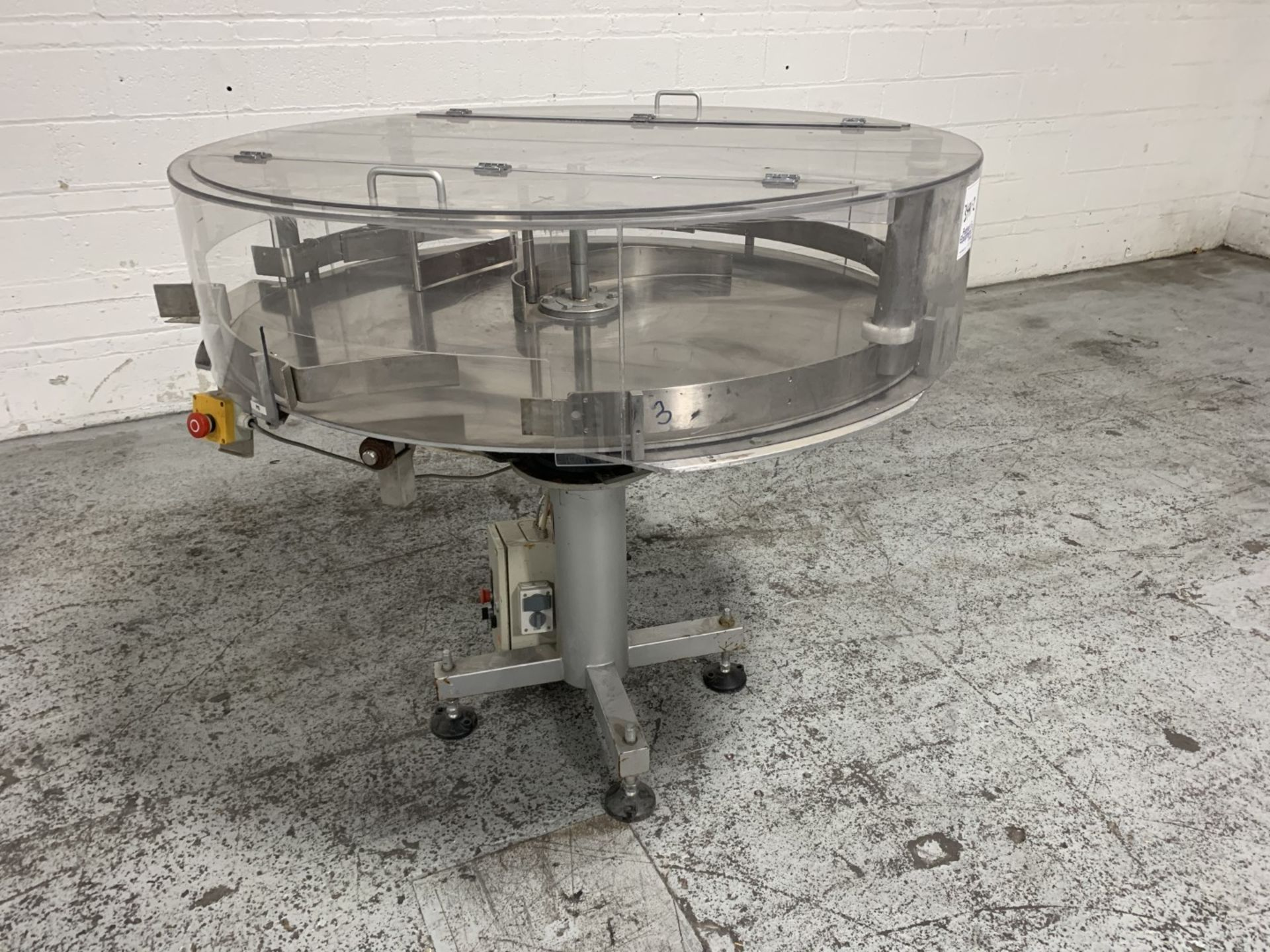"""Lot 15 - CarMatic 48"""" stainless steel accumulation table"""