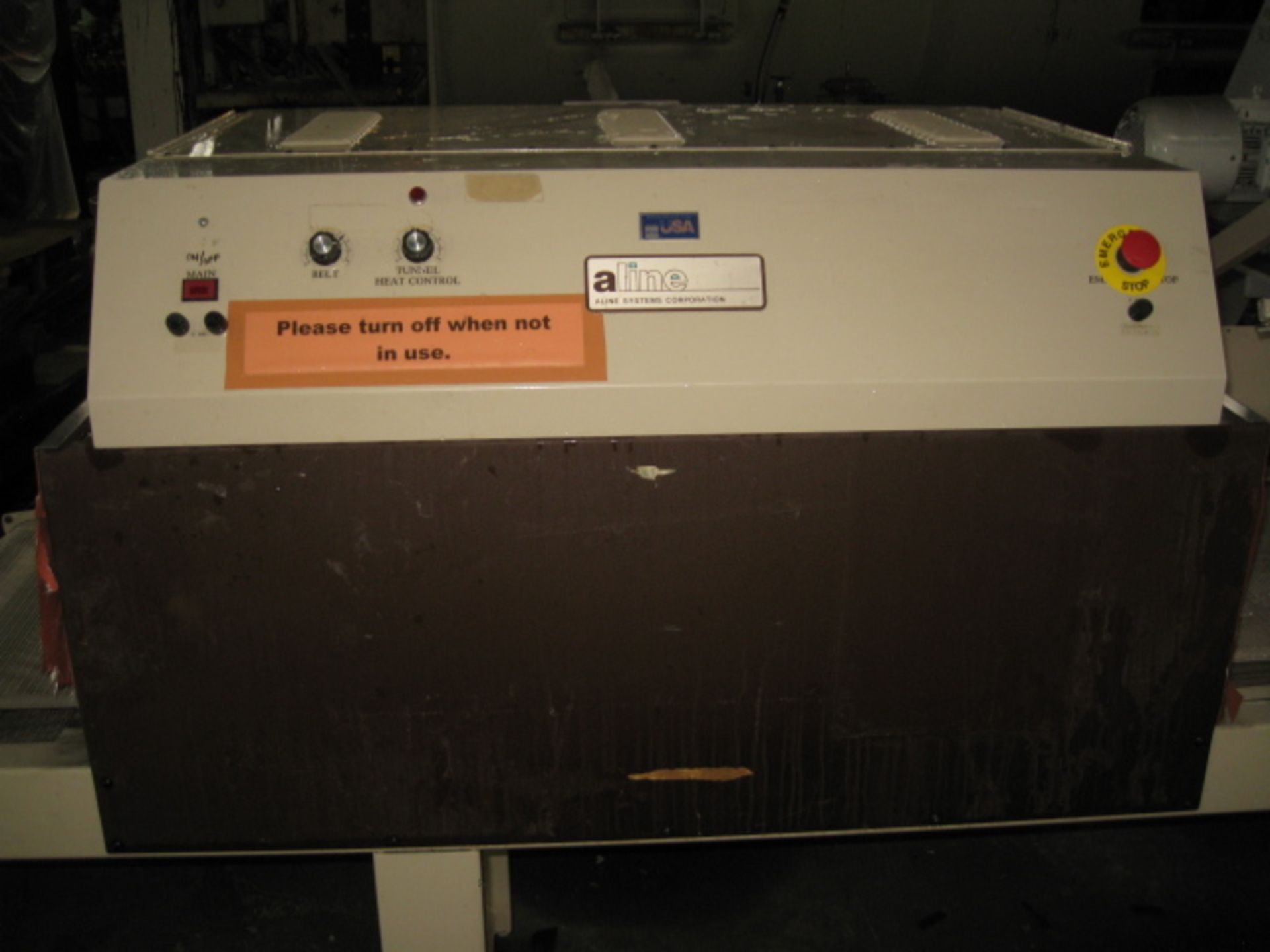 """Lot 11 - Aline Systems """"L"""" bar sealer with tunnel, Model 2428-ST"""