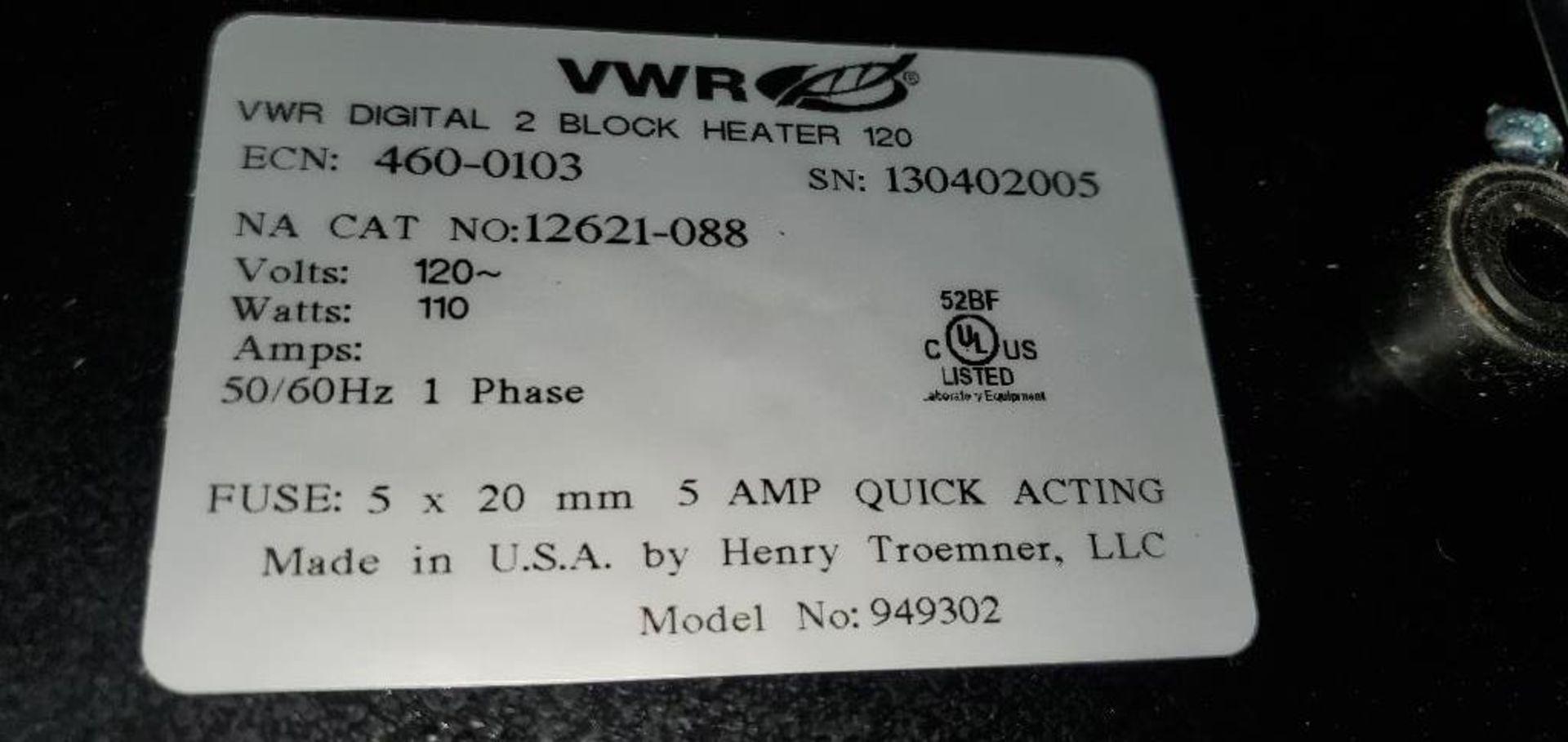 Lot 24 - VWR Scientific Model 460-0103 2-Block Heater