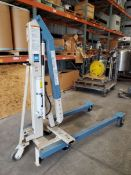 "OTC Portable Crane, Model A, 2200 lbs/1000kg capacity, approx. 50"" total boom extension, on"