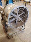 "24"" Fan, .75 hp, Model 074D024RP, carbon steel construction, 115/230 volts, serial# 805534-30, built"