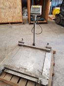 "30"" x 30"" Fairbanks Floor Scale, portable, roll-on design, with readout."