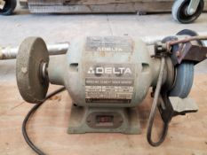 "Delta 6"" Bench Grinder, model 23-680, .25 hp, 3500 RPM, 120 volts, serial# P9043."