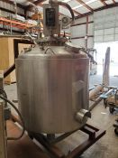 Jacketed Stainless Steel Tank, Agitated, approximately 200 Gallons
