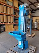 "Universal Bucket Elevator, carbon steel construction with plastic buckets, approx. 39"" lift."