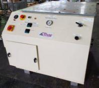 Thar Super Critical CO2 pump, 0-345 bar, 0-20 kg/min, with controls, on wheels.