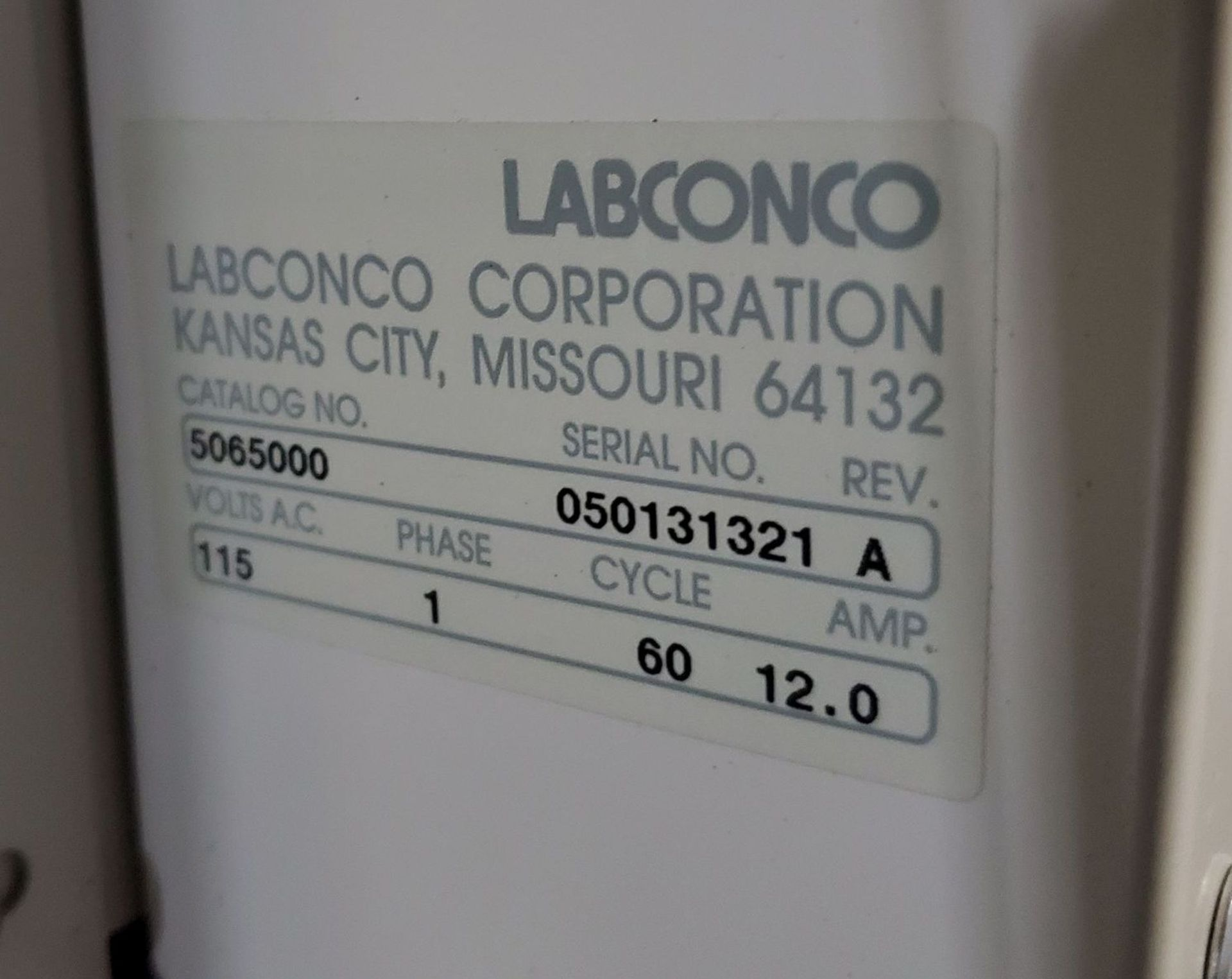"Lot 22 - 36"" Labconco Multi-Hazard Glove Box with antechamber,"