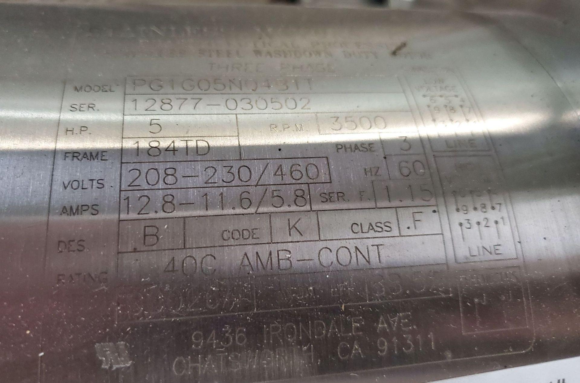 Lot 8 - 5 hp Ross Emulsifier, model HSM 105 SLIM, 3500 RPM, 208-230/460 volts,