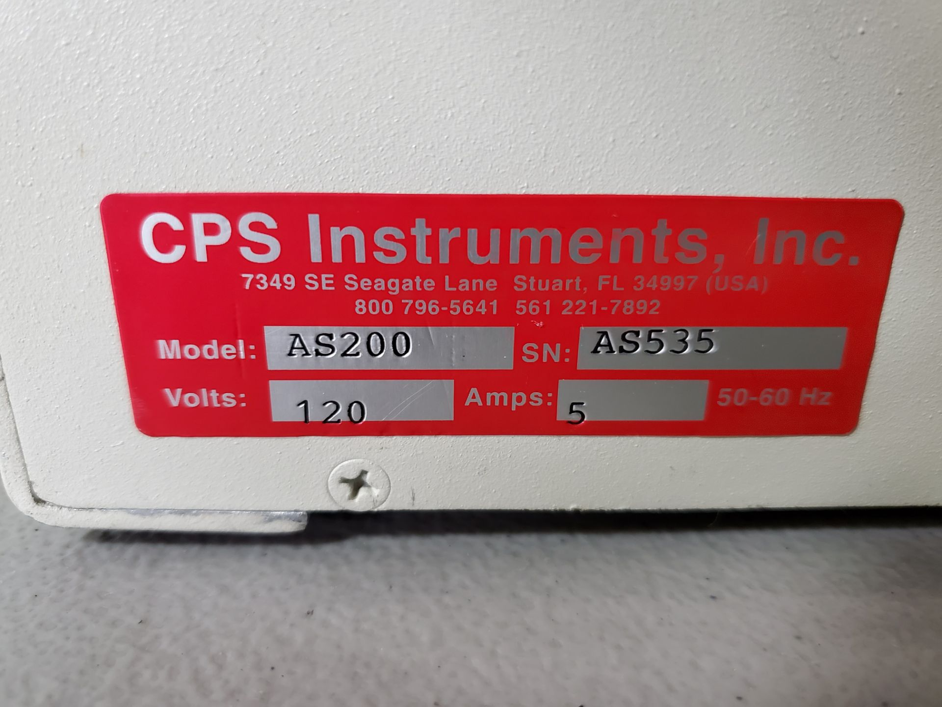 CPS Autosampler, model AS200, with CPS AG300 dual pump, 120 volts, autosampler serial# AS535. - Image 2 of 7