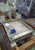 """42"""" x 42"""" Mettler Toledo roll-on scale, with spare platform, portable, with PUMA readout/controls."""