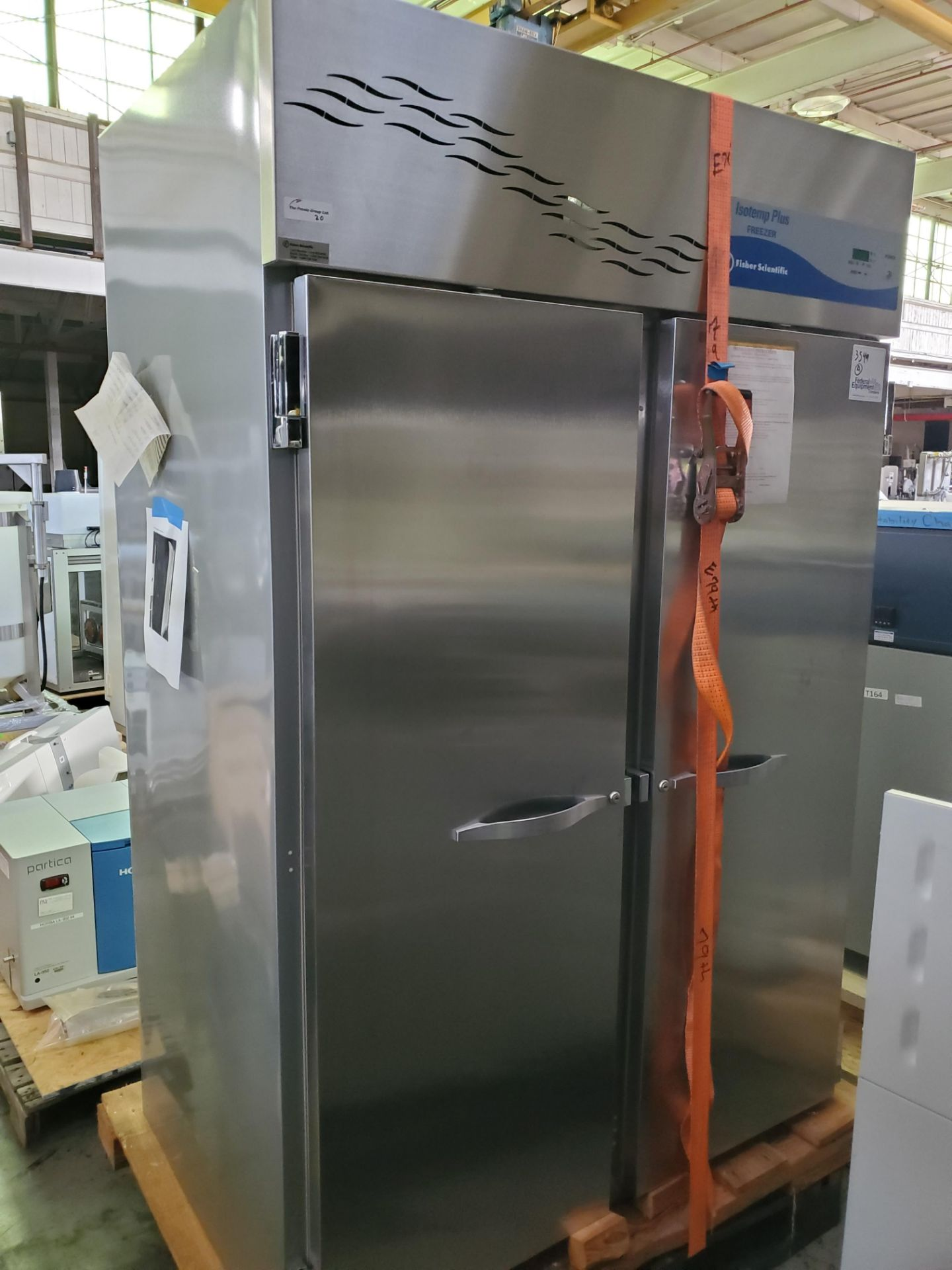 "Lot 20 - Fisher Scientific Isotemp Plus Freezer, 48"" wide x 25""deep x 60"" high chamber"