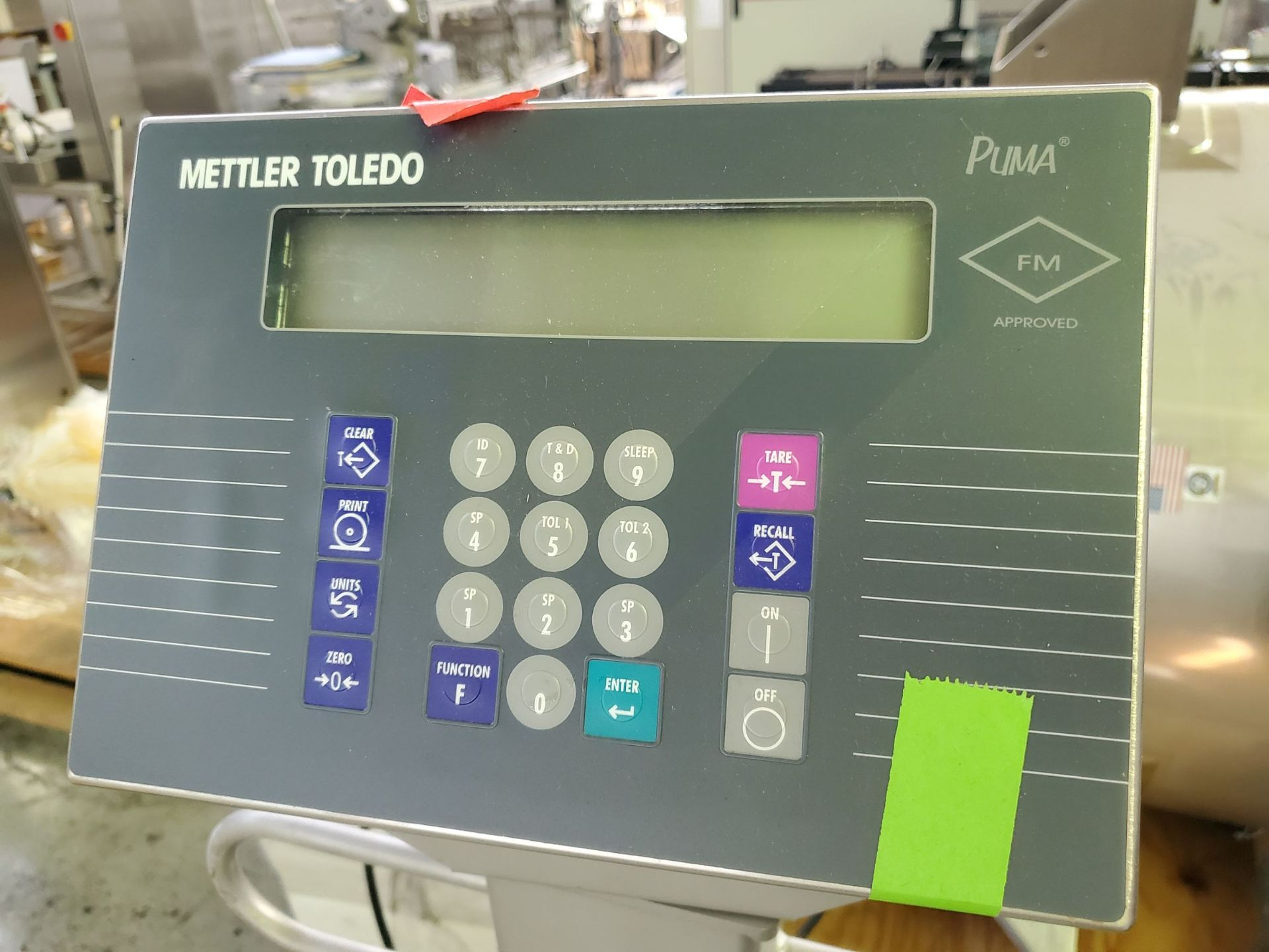 "Lot 10 - 42"" x 42"" Mettler Toledo roll-on scale, with spare platform, portable, with PUMA readout/controls."