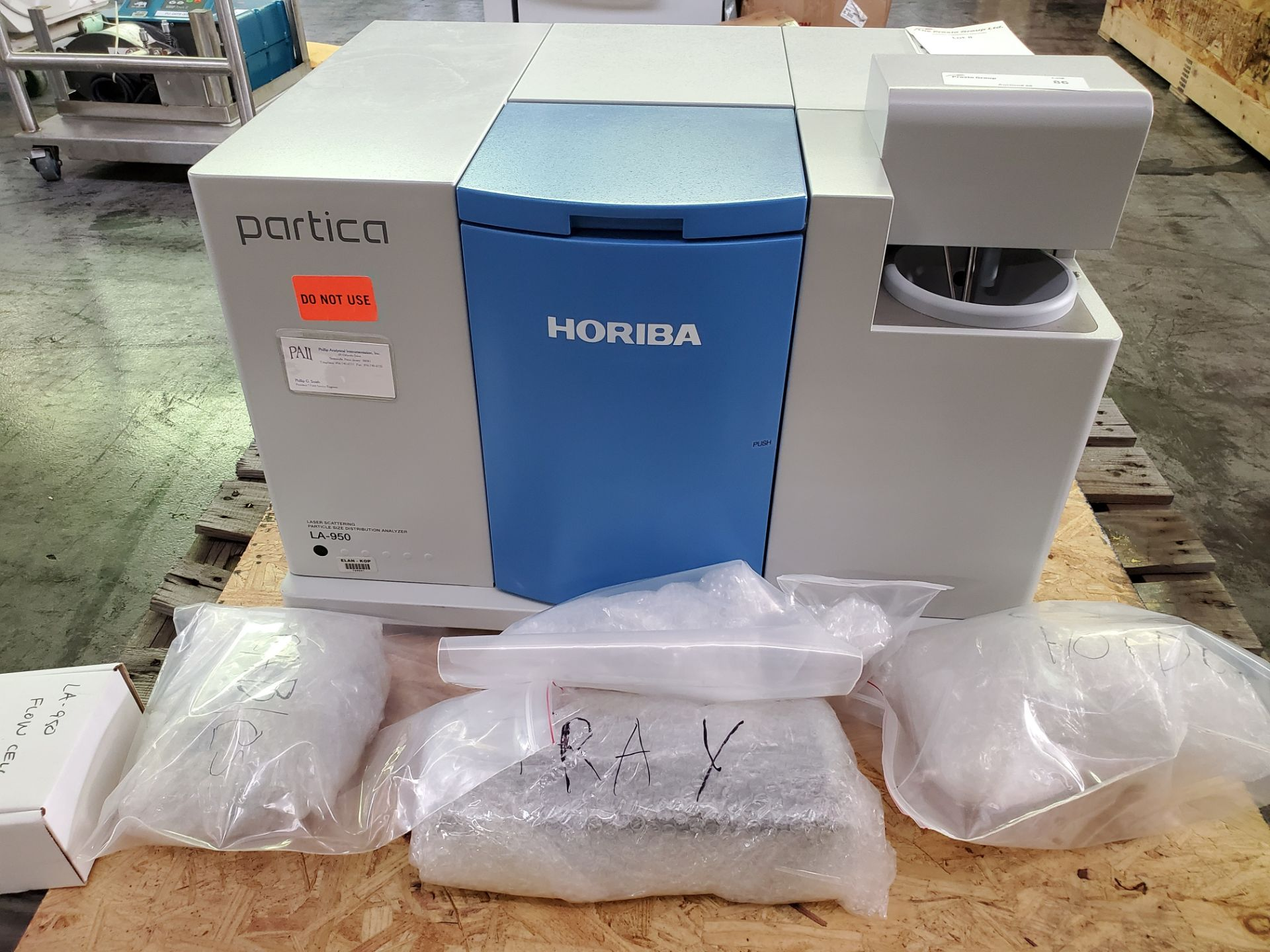 Horiba Laser Scattering Particle Size Distribution Analyzer, model LA-950, with components,