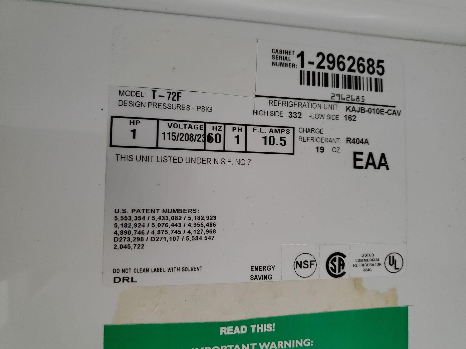 "(3) door Lab Line Freezer, model T-72F 75"" wide x 24"" deep x 52"" high chamber, R404A refrigerant, - Image 5 of 7"