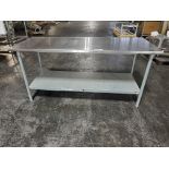 """John Boos and Company Stainless Steel Table, 72"""" long x 30"""" wide x 33"""" high"""