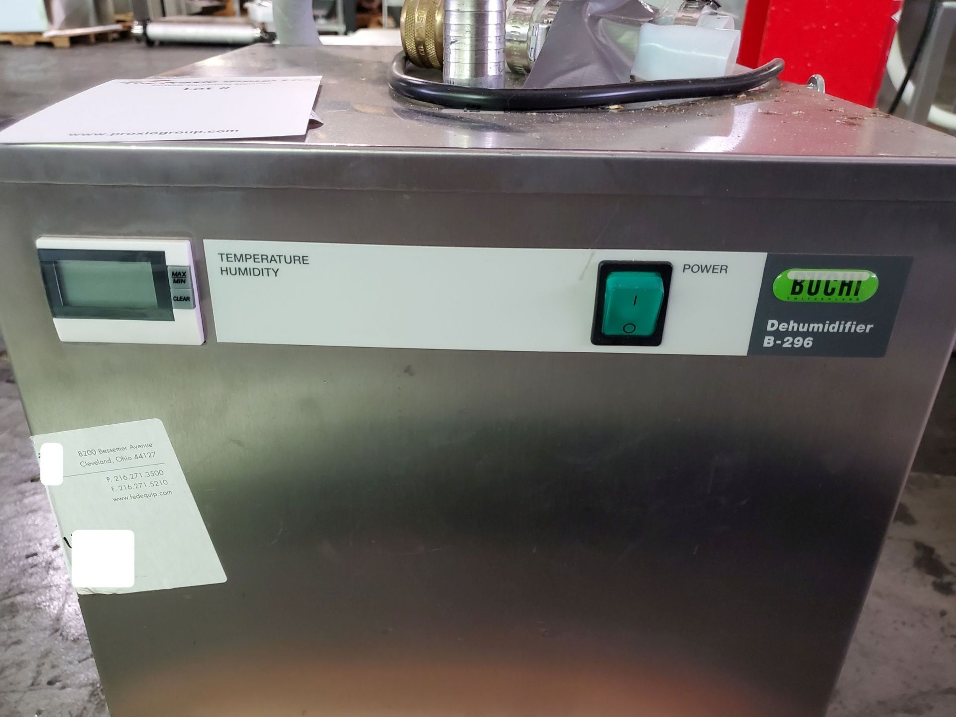Lot 17 - Buchi Dehumidifier, model B-296, R134A refrigerant, 230 volts, 700 watt, with controls.