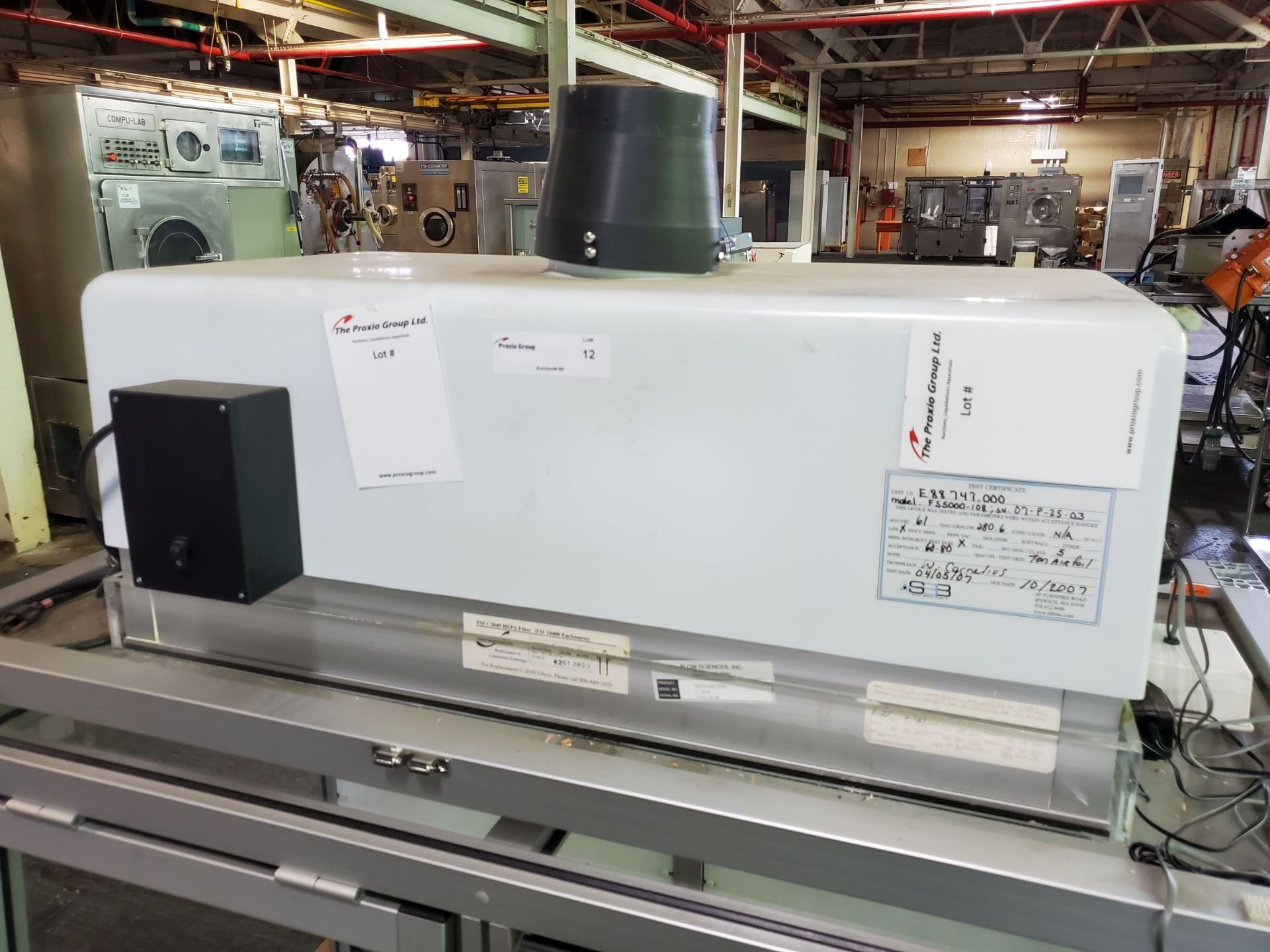 Flow Sciences HEPA Flow Hood/Glovebox, enclosure model FS5000-108 - Image 4 of 10