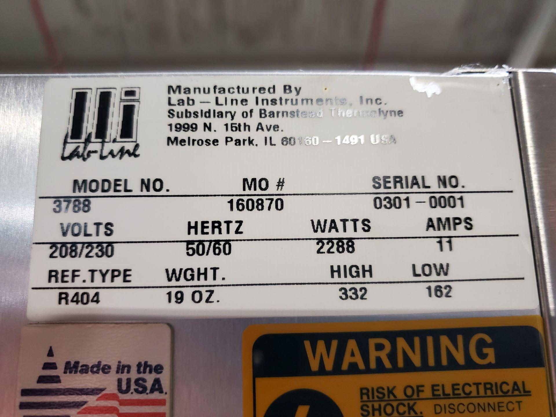 "(3) door Lab Line Freezer, model T-72F 75"" wide x 24"" deep x 52"" high chamber, R404A refrigerant, - Image 2 of 7"