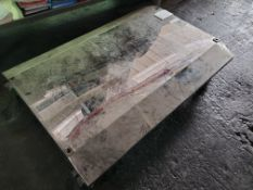 Rolling platform, stainless steel, polished surface