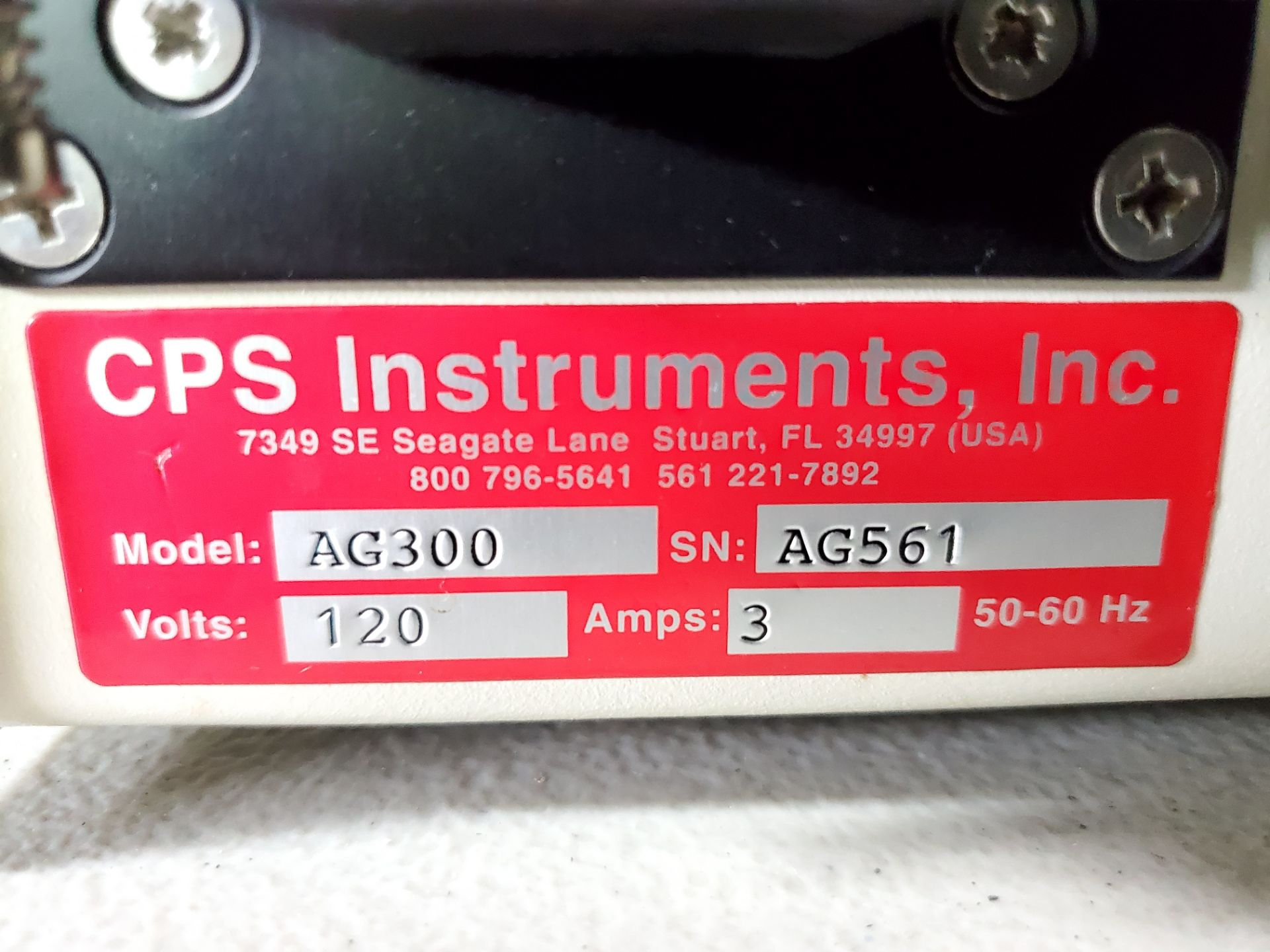 CPS Autosampler, model AS200, with CPS AG300 dual pump, 120 volts, autosampler serial# AS535. - Image 3 of 7