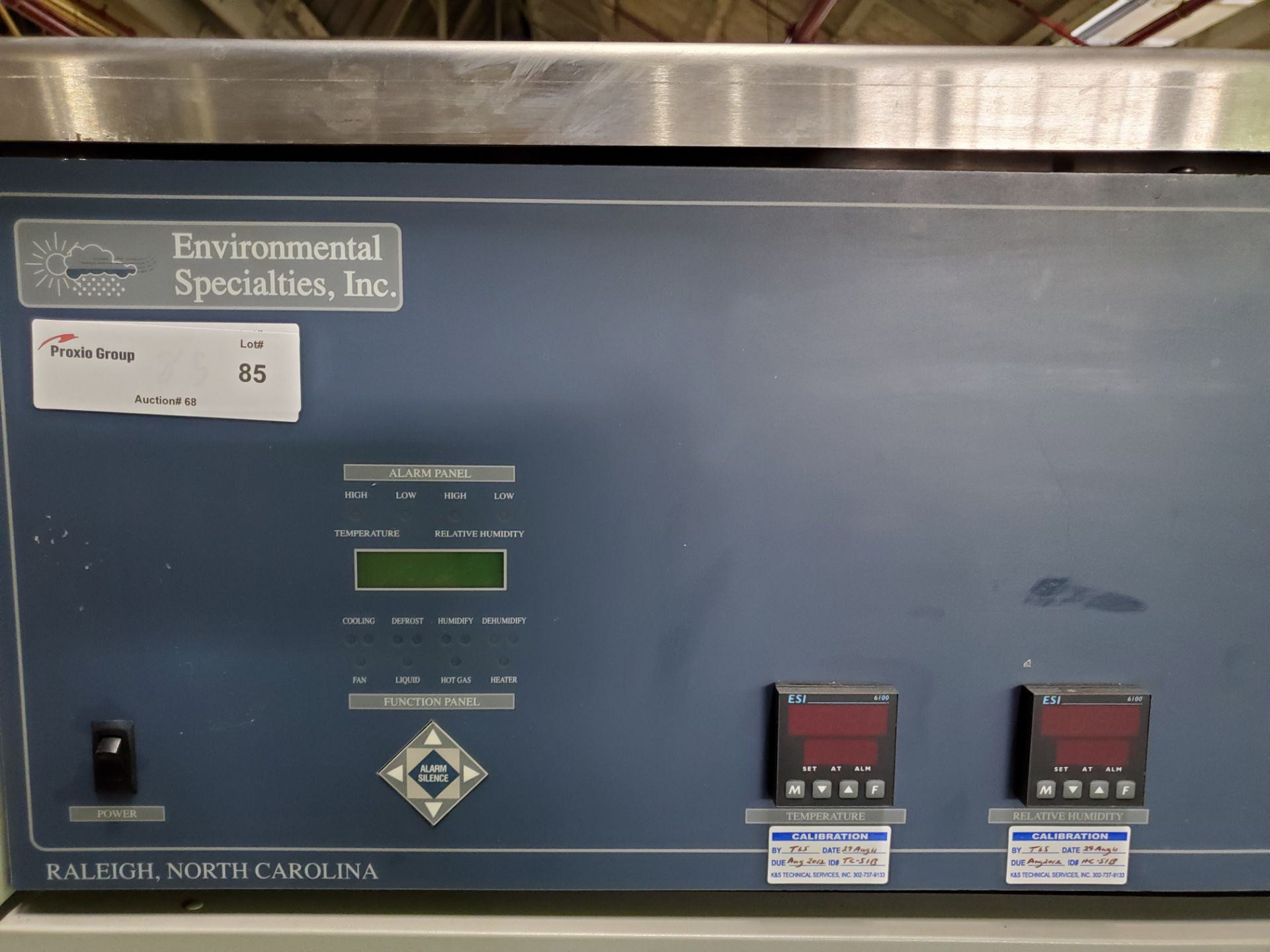 Environmental Specialties Stability Chamber, model ES2000 CDMD/BT, 0-70 C and 10-96% humidty - Image 6 of 7