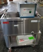 Sonic Systems Sonic Bath, model T136-8H-40, stainless steel construction