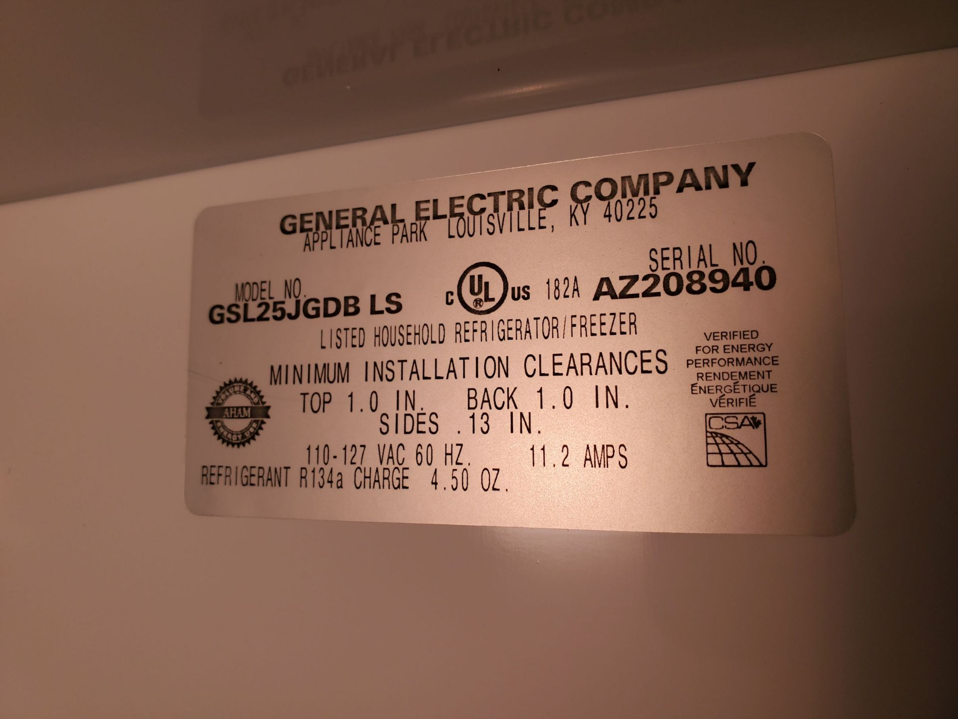 General Electric Refrigerator - Freezer - Image 2 of 2