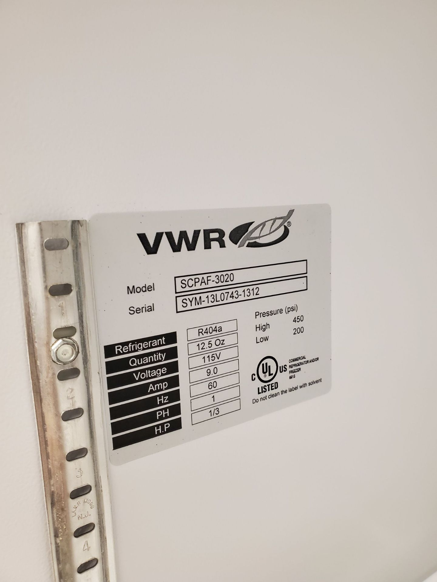 VWR Symphony Laboratory Freezer - Image 3 of 3