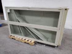 (2) Glass/Steel cabinets