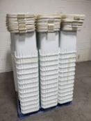 Lot of 5 Gallon White Plastic Buckets