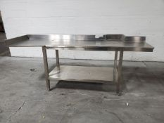 """97"""" x 30"""" Stainless Steel Table"""