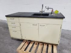 """67"""" x 30"""" Lab Bench, with Sink"""