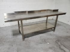 """93"""" x 30"""" Stainless Steel Table"""