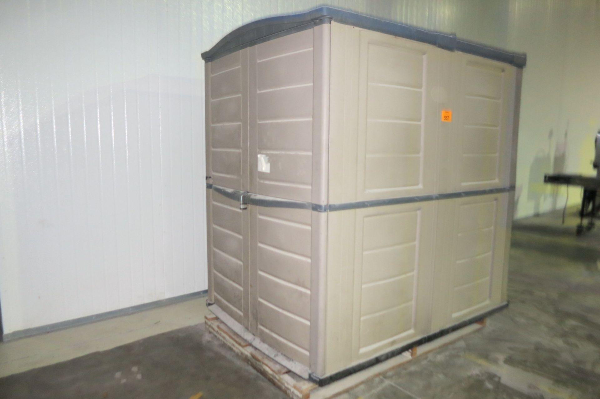 Lot 557 - Plastic Storage Shed