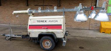 Terex Amida Lighting Tower. 5091 Hours. Manufactured 2005. Model: AL4050D-B-4MH.
