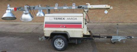 Terex Amida Lighting Tower. 3929 Hours. Manufactured 2006. Model: AL4050D-B-4MH.
