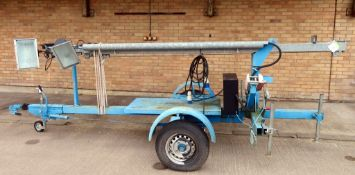 Henry Cooch Hand Winch Lighting Tower. Skylite 12MH. Manufactured 2011. Serial Number: 5672.