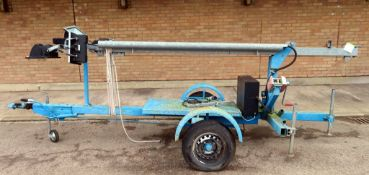 Henry Cooch Hand Winch Lighting Tower. Skylite 12MH. Manufactured 2011. Serial Number: 5671.