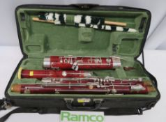 W.Schreiber S71 Bassoon Complete With Case. Serial Number: 31375. Please Note That This