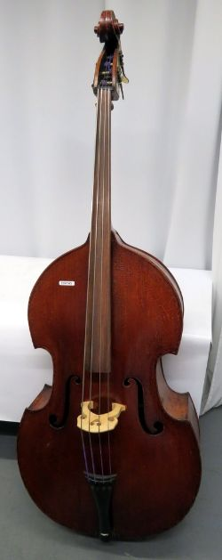 Warrick Maby Double Bass With Soft Padded Carry Case. Serial Number: AW-Bs-002.