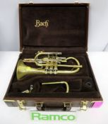 Bach Stradivarius 184 Cornet Complete With Case.
